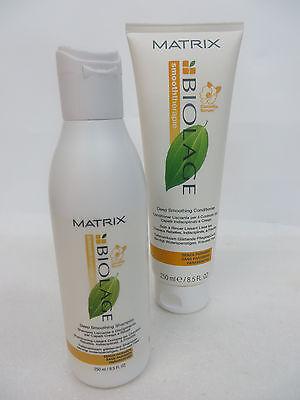 MATRIX  BIOLAGE DEEP SMOOTHING SHAMPOO & CONDITIONER  8.5 OZ EA Biolage Deep Conditioner