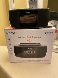 iHome Alarm Clock Bluetooth Stereo with Fast Wireless Charging iBTW38