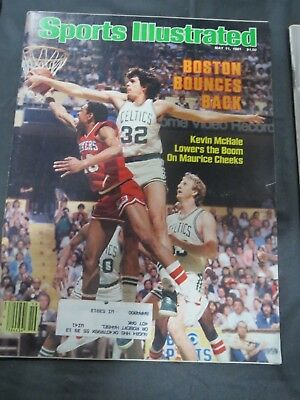 1981 BOSTON CELTICS SPORTS ILLUSTRATED MAGAZINE