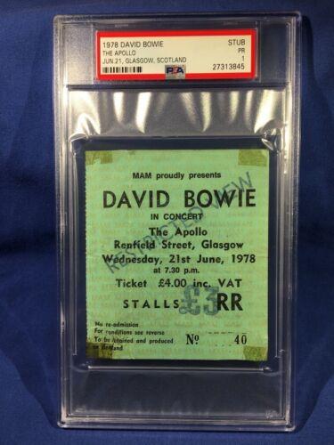 1978 David Bowie Concert Ticket The Apollo Glasgow Scotland PSA