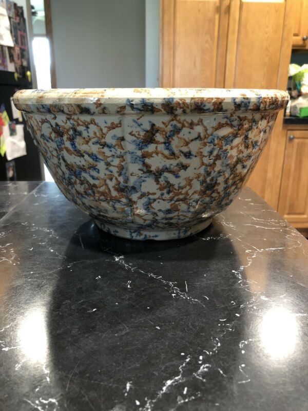 "Antique Spongware Bowl 11"" Diameter Panels"