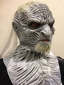 White Ice Zombie Walker Mask Halloween Game Latex Fancy Dress Costume Thrones