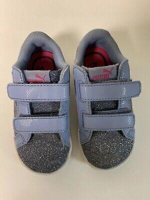 Puma Girls 6C Blue Sparkle Glitter Athletic Shoes Sneakers - Blue Sparkle Shoes