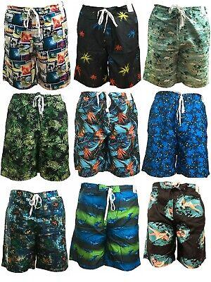 Mens Boys Swimming Shorts Board Surf Shorts Sports Swim Trunks Beach (Boys Swim Board Shorts)