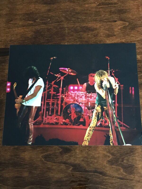 Vintage Aerosmith Stephen Tyler Singing Band Image 8x10 Glossy Photo