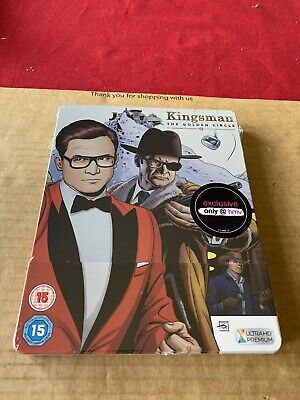 Kingsman The Golden Circle 4K UHD Steelbook Blu Ray New and Sealed