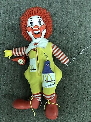 Vintage Ronald McDonald Plush Doll with Whistle And Grimace