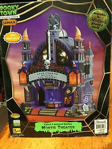 Lemax Spooky Town Haunted Mortis Theatre Halloween