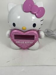 Hello Kitty Time On Wall Projection Projector AM/FM Alarm Clock Radio. Tested!!