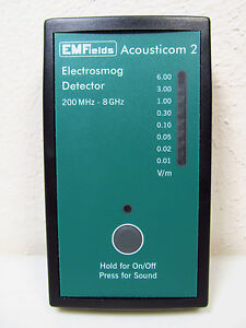 Acousticom 2 RF Detector Radio Frequency Microwave Meter + 11-Page Training Docu
