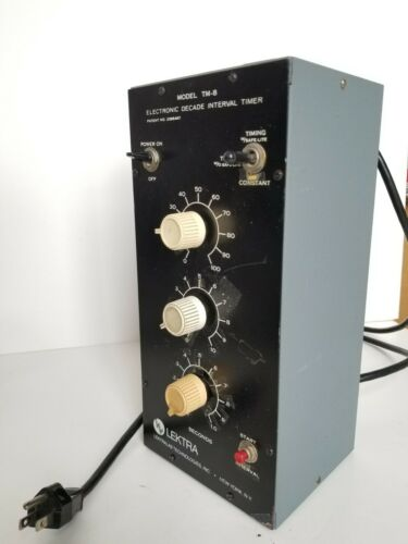 Lectra TM-8 Electronic Decade Interval darkroom printing timer