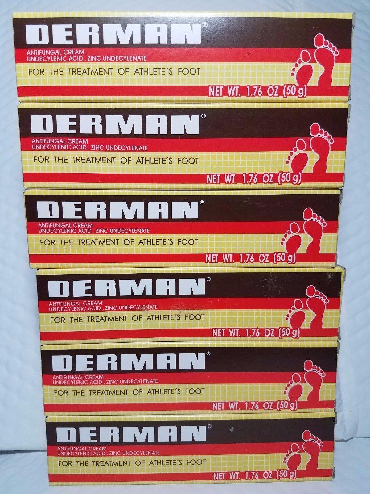 3X Pieces  DERMAN ANTIFUNGAL CREAM  1.76 OZ EACH 09/18 UNISE