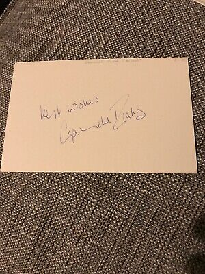 GABRIELLE DRAKE - Autograph James Bond - UFO - SIGNED WHITE CARD for sale  Bedford