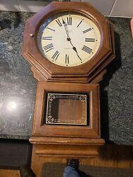 "Verichron ""Westminster Chime"" Regulator Wall Clock- Wood Case- Quartz"
