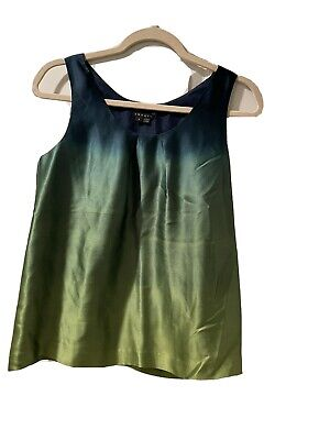 theory silk blouse size S sleeveless