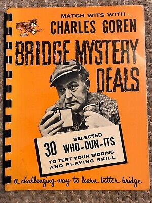 Match Wits With Charles Goren Learn Bridge Card-Game Mystery Deals Book SB12
