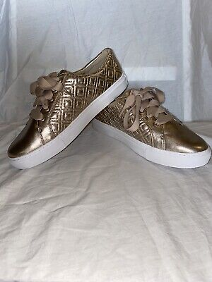 Tory Burch Gold Shimmer Gold Shoes, Size 9 Rare Brand New Women's Shoes