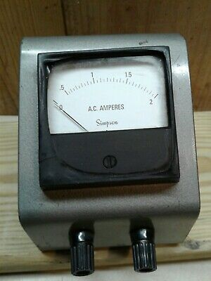Simpson Ac Amperes Meter Untested