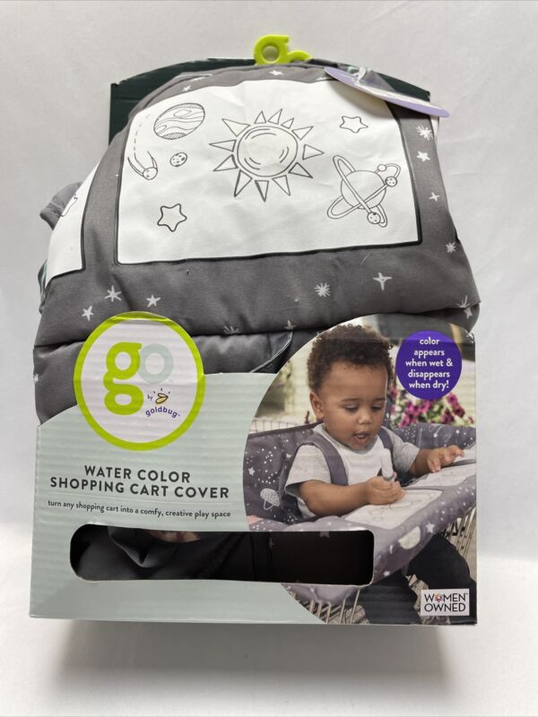 Go by Goldbug Water Color Shopping Cart Cover Play Space - NEW - Women Owned
