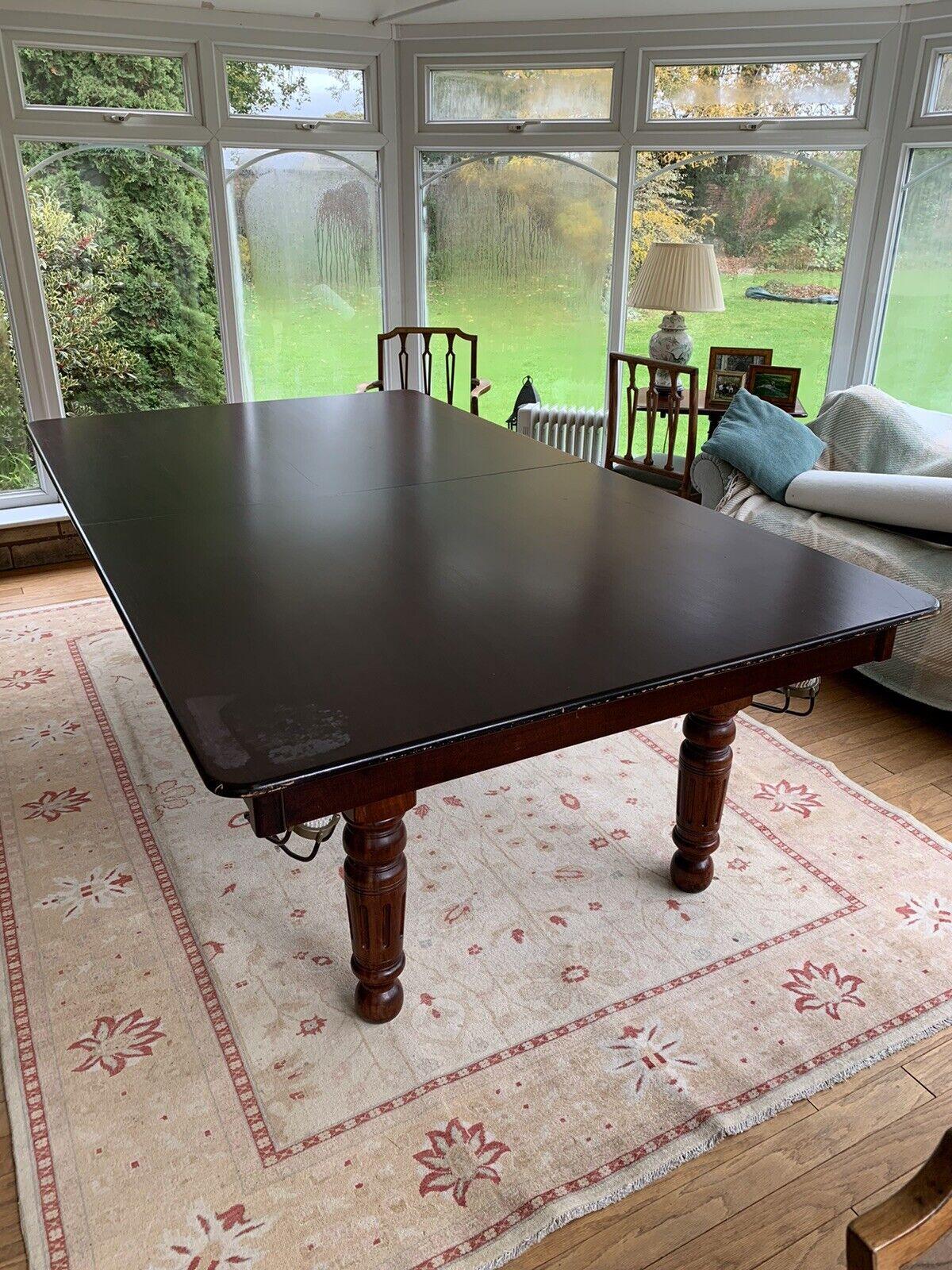 Snooker Dining Table Mahogany 7'6 x 4 Slate Pool Set
