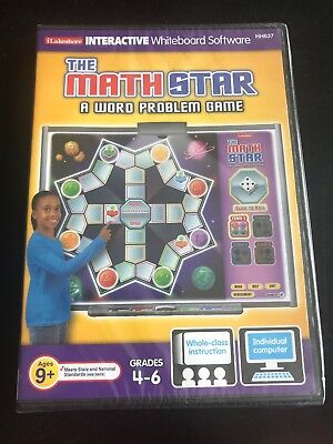 Lakeshore Interactive Whiteboard Software Math Star Grades 4-6 Word Problem - Words Interactive Whiteboard