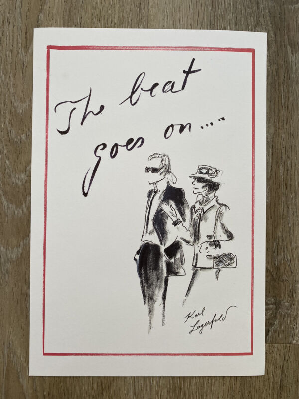 Karl Lagerfeld Chanel The Beat Goes On Print NEW
