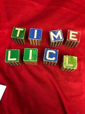 Vintage Children's Wood Alphabet Blocks