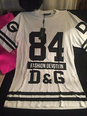 DOLCE & GABBANA Tee-Shirt long oversize T 38 Neuf étiquette Prix boutique 345€