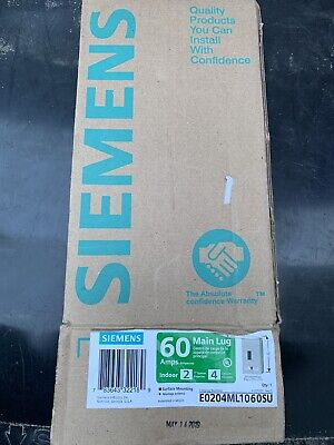 Siemens E0204ml1060su Indoor Main Lug Load Center 60 Amp