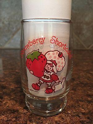 "Vintage Strawberry Shortcake Small 4"" Juice Glass (MCMLXXX) 1980"