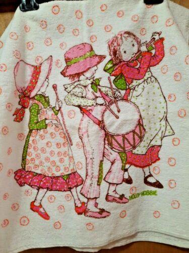 Vintage Holly Hobbie ~  2 Pc. Set  BATH Towel &  Washcloth Great Condition