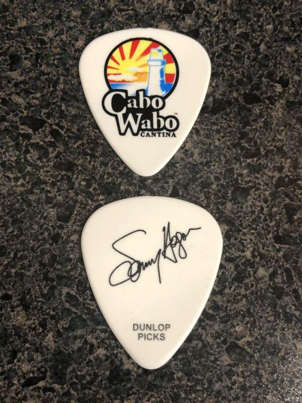 Sammy Hagar Cabo Wabo Signature Guitar Pick Van Halen Red Rocker Rare