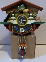 Kuckulino Black Forest Clock Swiss House Quartz Movement And Cuckoo Chime WORKS