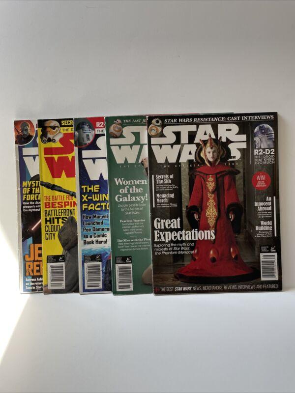 Star Wars Insider Magazine lot of 5 # 159, 167, 166, 176, 186