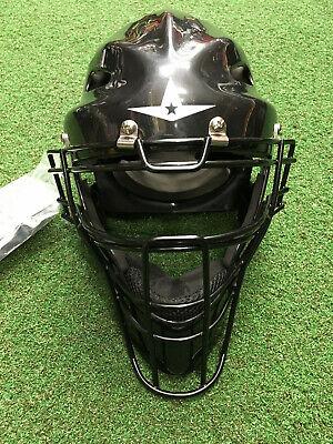 All Star Youth Catchers Helmet (All-Star BLACK Youth Hockey Style Catcher's Helmet MVP2310 Brand)