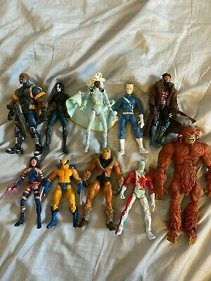 Marvel Legends Wolverine, Gambit, Psylocke, Storm, Domino, Bishop Action Figures