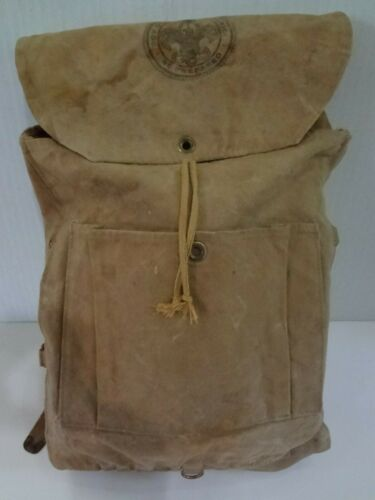 Vintage Boy Scouts Of America Haversack Hiking Backpack No. 573 BSA