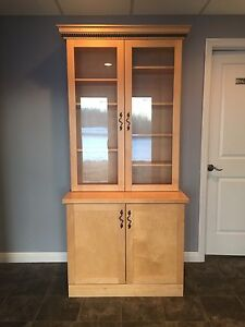 New Price - Solid Maple China Cabinet