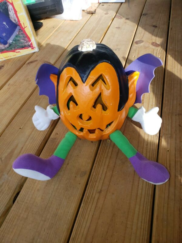 VINTAGE 1998 PAPER MAGIC GROUP SCARY FACE BLOW MOLD HALLOWEEN PUMPKIN