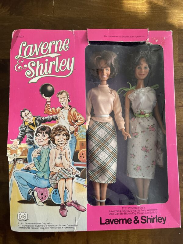 RARE Mego New Laverne & Shirley TV Show Celebrity Dolls New In Box