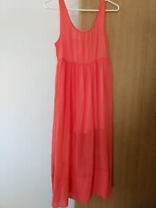 Luvalot Pink orange maxi dress