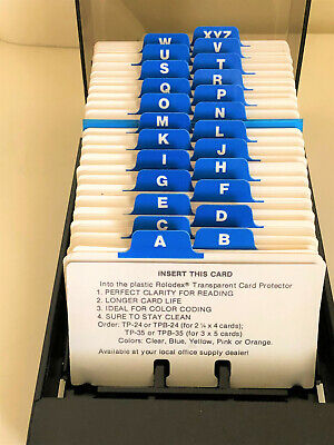 Rolodex Business Card Holder Box File Storage Index Organizer About 500 Cards