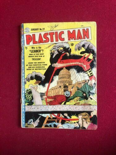 "1951, Plastic Man, ""QUALITY COMIC""  Comic Book (Scarce / Vintage)"