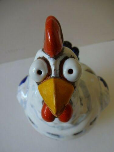 Ceramic Farm Animal - Yard Ornament - Comical Chicken