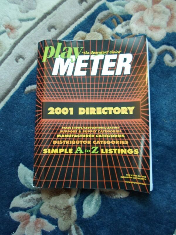 coin-op Amusements Directory 2001 Play Meter MAGAZINE