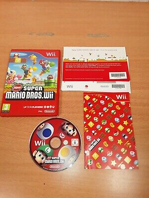 NEW SUPER MARIO BROS NINTENDO WII GAME. WITH MANUAL......EXCELLENT.