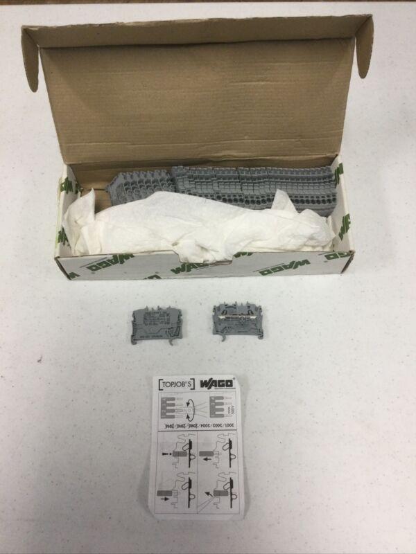 Box Of 37 NEW WAGO 2002-1201 20021201 FEED-THROUGH TERMINAL BLOCK 20A 550V GRAY