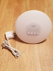 Philips Wake-Up Light Alarm Clock w/ Sunrise Simulation, White (HF3500) Preowned