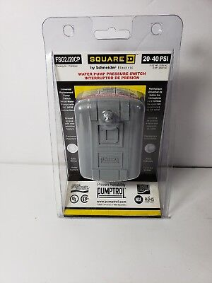 Square D Fsg2j20cp Pressure Switch 20-40psi