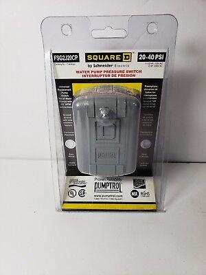 Square D Fsg2j20cp Pressure Switch 20-40psi